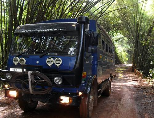 Overland Truck In West Africa