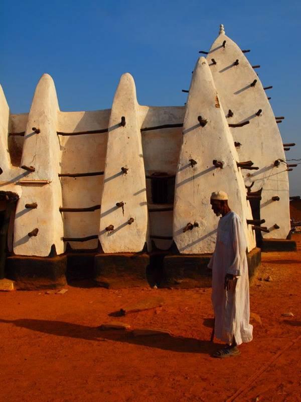 Adobe Mosque In Ghana